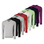 CGGF7078 Callaway Ribbed V-Neck Merino Sweater